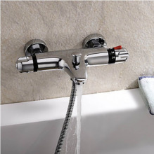 Thermostatic Chrome Finish Tub Faucet Automatic Temperature Control Water valve