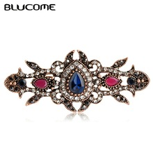 Blucome Latest Style Vintage Brooch Corsage Pins Crystal Joias turco Love Girls Women Delicate Gifts Broches Turkish Jewellery