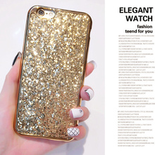 Luxury Bling Plating Frame Case For iPhone X 10 8 7 7Plus 6 6S 6 Plus 5 5S SE Glitter Scales Sequin Pu Leather Cove High Quality(China)