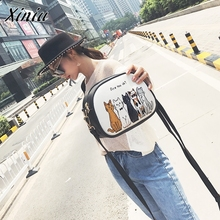 Women Fashion Handbag Animal Shoulder Bag Small Tote Ladies Purse Bag famous brand women messenger bags sac a main femme(China)