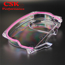 Clear Cam Timing Belt Cover For Mitsubishi Lancer Evolution EVO 9 IX Mivec 4G63(China)