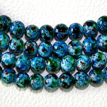 Latest Designed Approx 100pcs/lot 8mm Blue Glass Beads for Jewelry Making & DIY Beads BBD016-47(China)