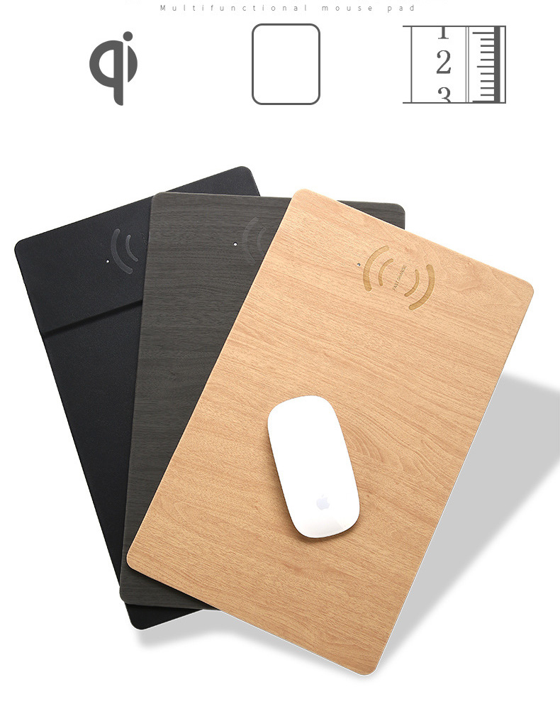 Fast Wireless MousePad Charger,2 in 1 Mouse PadMat Wood With Wireless Charger for iPhone X 8 7 Samsung Note 8S9S8 Qi Charger  (14)