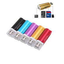 USB Card Reader All in 1 USB 2.0 Multi Memory Card Reader for Micro SD SDHC TF M2 MMC MS PRO DUO(China)