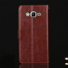 Genuine Leather Original Phone Cover Cases for Samsung Galaxy J2 Prime Case Flip Coque for Samsung Galaxy J2 Prime Cover Wallet(China)