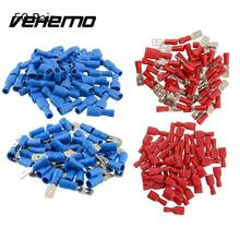 Vehemo 1000cs 16-14AWG Insulated Spade Crimp Wire Cable Connector Terminal Male/Female Kit 50Pairs