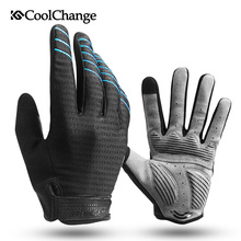 Buy CoolChange Cycling Gloves Full Finger Bicycle Gloves Touch Screen Windproof Sports Man Woman Gloves Bike Sponge Shockproof Glove for $8.89 in AliExpress store