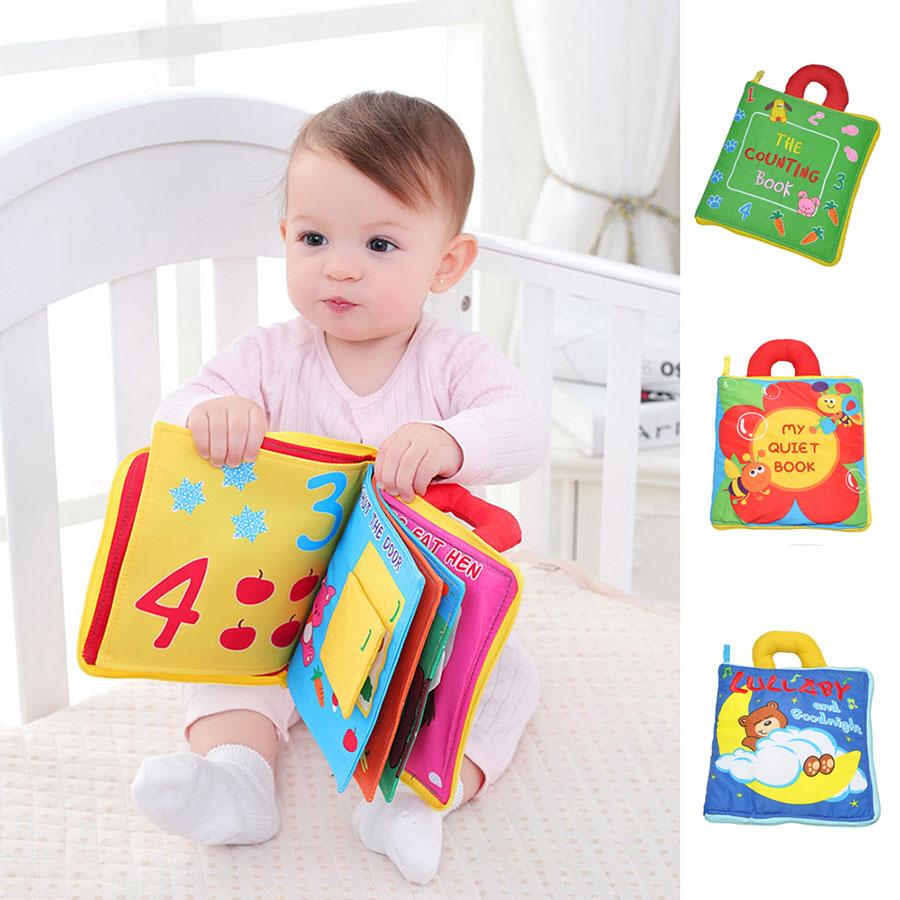Newborn Baby Intelligence Early Education Fun Learning Donkey Toys Cloth Book US