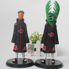 2 Pcs/Set Anime Naruto Akatsuki PVC Action Figure Zetsu And Uchiha Obito Collection Model Toys For Child Boy
