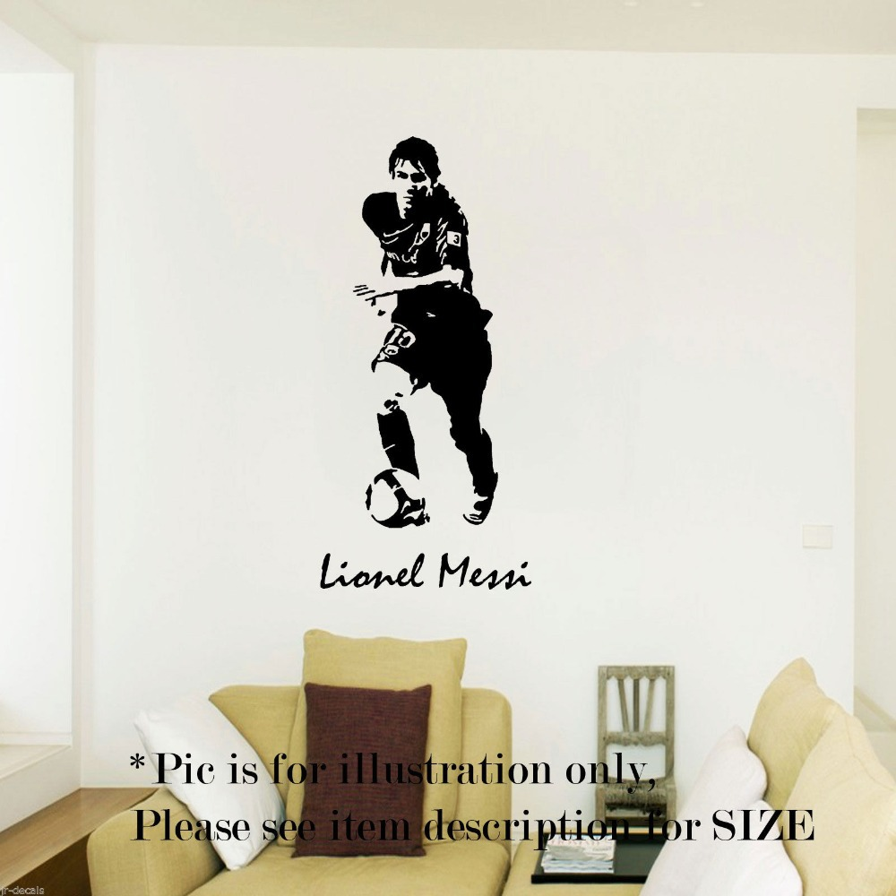 Football Player Messi Sticker Sports Soccer Decal Posters Vinyl Wall Decals Pegatina Quadro Parede Decor Mural Football Sticker