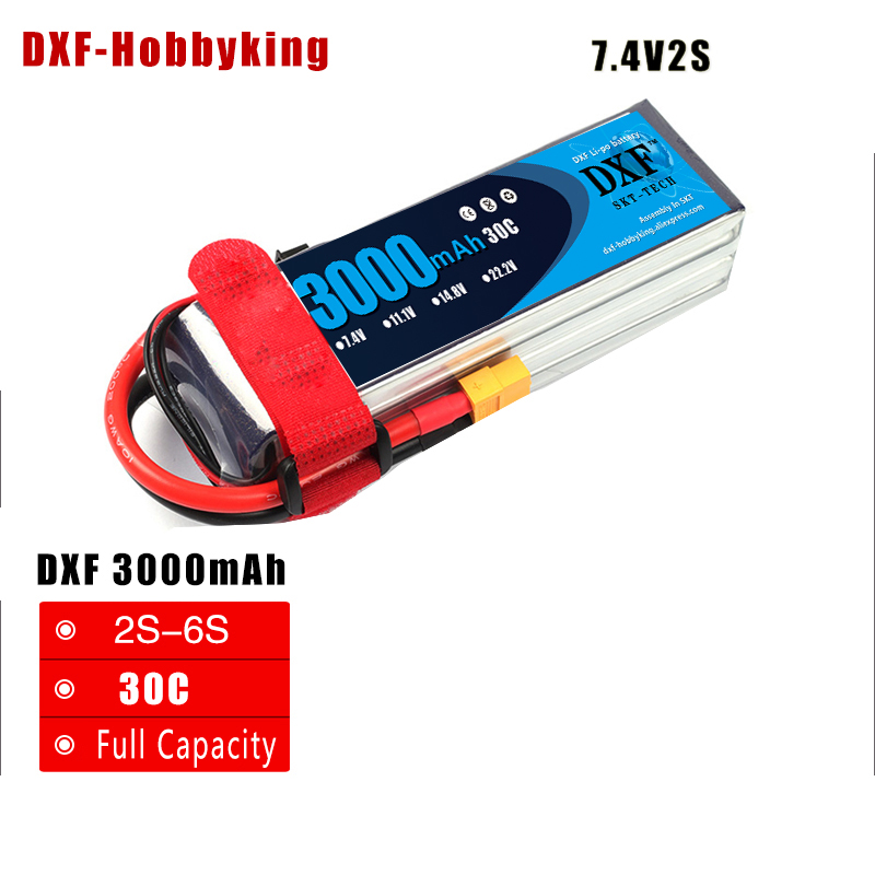 2017 DXF Power High lipo battery 7.4v 3000mAh 2S 30C rc helicopter rc car rc boat quadcopter Li-Polymer battey