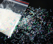 Mix Sizes Round Dot White with Colorful Tint Shining Nail Glitter Paillette Spangle Shape for Nail Art Glitter Craft Decoration