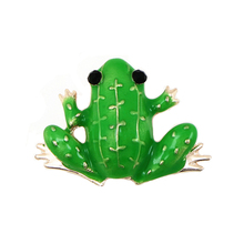 OneckOha Fashion Jewelry Enameled Green Frog Brooch Pin Cute Animal Pin Women's Jewelry Brooches(China)