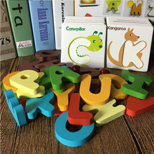 New Wooden Early Education Baby Preschool Learning ABC Alphabet Letter Cards Cognitive Toys Animal Puzzle(China)