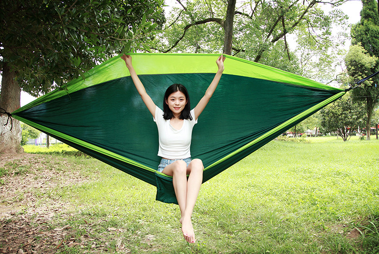 Double person Hammock Portable Parachute Nylon Fabric Travel Ultralight Camping hamak Outdoor Furniture casual hanging bed hamma 2