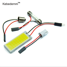 kebedemm 36 LED COB Chip Car Auto Interior Light Panel Reading Map Bulb Lamp BA9S Festoon Dome Adapter 12V DIY Compartment Light(China)