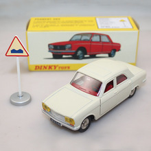 Atlas 1:43 Dinky Toys 1428 PEUGEOT 304 Diecast Toys Models Car Limited Edition White(China)