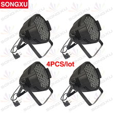 SONGXU 4pcs/lot Wholesale Competitive Price 54 LED RGB 3in1 LED Par Can Light LED Stage Par Light /SX-PL54A(China)