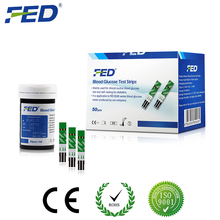 FED 50 Test Strips+ 50 Twist Lancets Blood Glucose Meters Diabetics Test Glycuresis Monitor blood Glucometer medidor de glicose(China)
