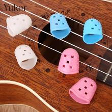 Yuker YUKER 4Pcs Guitar Fingertip Thumb Protectors Silicone Finger Picks Guards Protection(China)