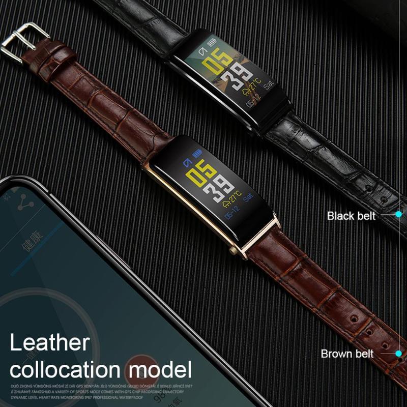 ALLOYSEED Bluetooth Smart Bracelet Watch Handsfree Call Music Player Sport Wristband Headset Fitness Tracker Heart Rate Monitor 10