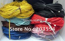 Wholesale 1000meters mixed color Braided Necklace cord Beading Cord Finding , Jewerly Cord,3MM