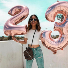 Balloons Party-Decorations Birthday-Foil 23th-Years-Old Rose-Gold Happy Boy Girl 32-40inch