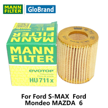 MANNFILTER car oil Filter HU711x for Ford S-MAX  Ford  Mondeo  MAZDA  6   auto  parts