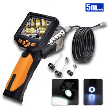 "NTS200 3.5"" LCD Digital Borescope USB Endoscope 8.2mm 5M Probe Inspection Video Endoscope Camera Waterproof Zoom Rotate Flip"
