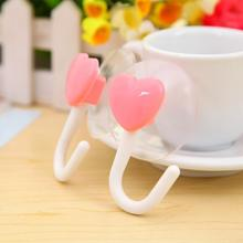 2 Pieces clasp buckle wall hook hanger coat key holder organizer suction cup bag handbag bathroom purse kitchen love heart gift(China)