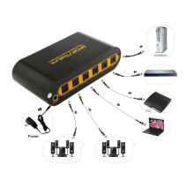 SPDIF / TOSLINK Optical Digital Audio True Matrix 4x2 Switch Switcher Splitter with Remote Control up to 40m (4 in 2 out)