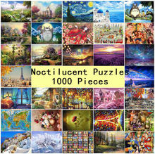 1000 pieces Puzzle Kids Jigsaw Puzzles Noctilucent Educational Toys for Children Adult Fluorescent puzzles(China)