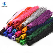 10pcs/lot 12CM Mixed Cotton Silk Tassels Earrings Charm Pendant Satin Tassels for DIY Jewelry Making Findings Materials(China)