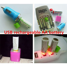 AA Battery & Integrated USB Charger Rechargeable 1450mAh 1.2V (2 Pack) Factory price May26