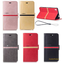 Wallet Leather Phone Case For Sony C6 Skin Cover Cases Mobile Part Accessories For Sony C6 Holster Bag(China)