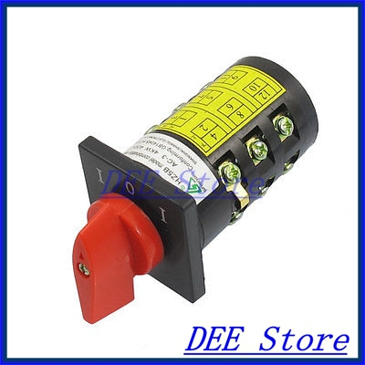 AC 380V 10A 4KW Locking I-0-I 3 Position Cam Combination Changeover Switch<br><br>Aliexpress