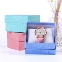 8.5x8x5.3cm 50pcs Wholesale Watch gift packaging paper box high quality small paper carton cardboard gift paper box colorful(China)