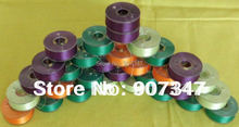 Colored prewound bobbin thread size L 12 bobbins/tube, 4 tubes/pack, brother colors+free shipping(China)