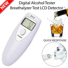 1Pcs Professional Alcohol Analyzer Police Digital Breath Alcohol Tester HX-64 LCD Display Breath Analyzer alcohol Tester(China)