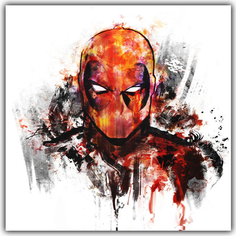 Deadpool Wade Wilson USA Superheroes Comic Movie Art Silk Poster Print Home Decor Painting DY803(China)