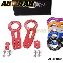 AUTOFAB - Anodized Universal Front+Rear Tow Hook Billet Aluminum Towing Kit For JDM Racing AF-TH0185