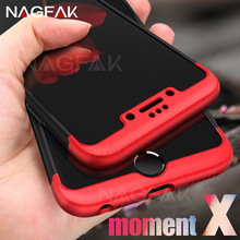 NAGFAK Luxury Back Case For iphone 6 6s Plus Plastic Hard Shockproof 360 Degree Protection For iphone 6 Plus Cover Case shell(China)