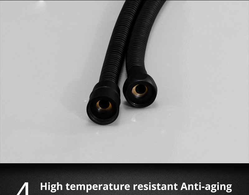 DCAN Plumbing Hoses Stainless Steel Black Shower Hose 1.5m Plumbing Hose Bath Products Bathroom Accessories Shower TubingHoses (6)