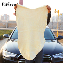 Free Shipping Drying Cleaning Towel Natural Genuine Leather Chamois Shammy Sponge cloth Sheepskin Absorbent Towel Car Washing(China)