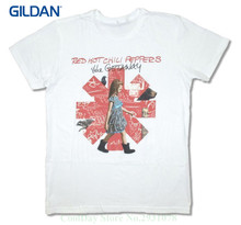 2017 Summer T-shirts For Men Red Hot Chili Peppers The Getaway Girl Asterisk Image White T Shirt New Adult(China)