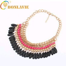 2017 New Fashion Bohemia Knitting Necklace Choker Collar Necklace Fashion Jewerly For Women Multilayer Necklace Colar