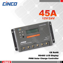 VS4524BN 45A 12V 24V Auto View Star PWM Solar Charge Controller LCD Display Connect Solar Panels And Battery