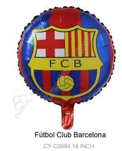 New 2pcs/lot Barcelona Foil Balloons Happy Birthday Party Decorations Barcelona Football Aluminum Balloon Toys For Kids Globos