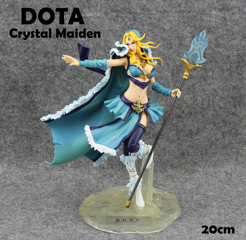 Free Shipping 8 Game DOTA 2 Crystal Maiden Boxed 20cm PVC Action Figure Collection Model Doll Toy Gift<br>