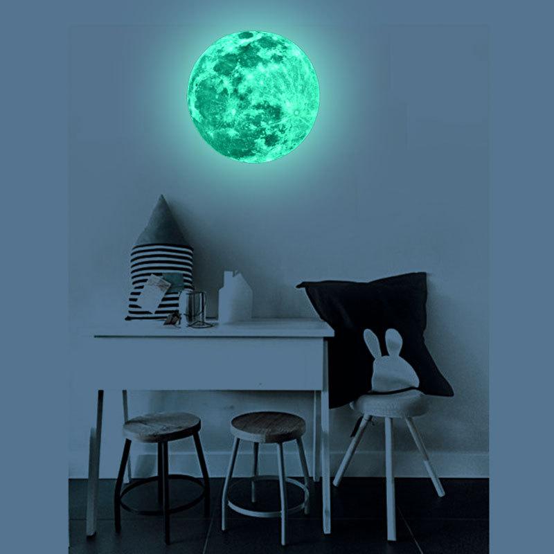 HTB1lQGHSpXXXXcfXXXXq6xXFXXXM - Super Luminous moon wallpaper luminous wall stickers luminous waterproof stickers children bedroom bedroom decoration mural